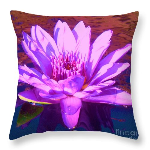 Lavender Throw Pillow featuring the photograph Lavender Lily by Eric Schiabor