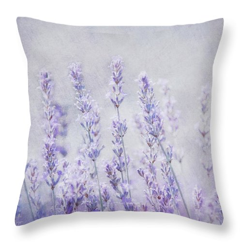 Lavender Throw Pillow featuring the photograph Lavender Romance by Claudia Moeckel