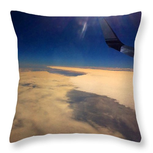 Photographs Throw Pillow featuring the photograph Layers by Marcello Cicchini