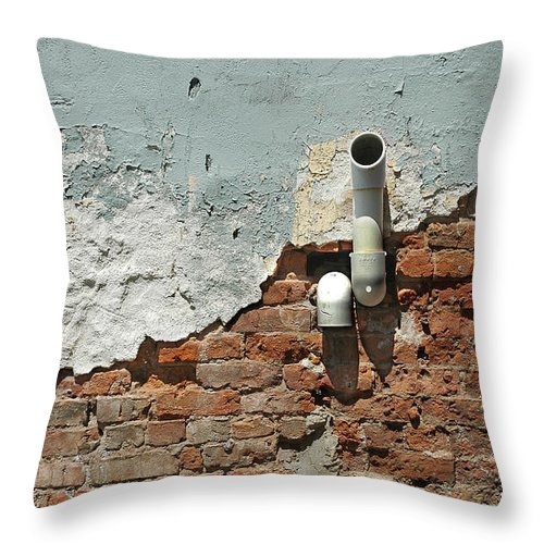 Wall Throw Pillow featuring the photograph layers of Age by Steve Cost