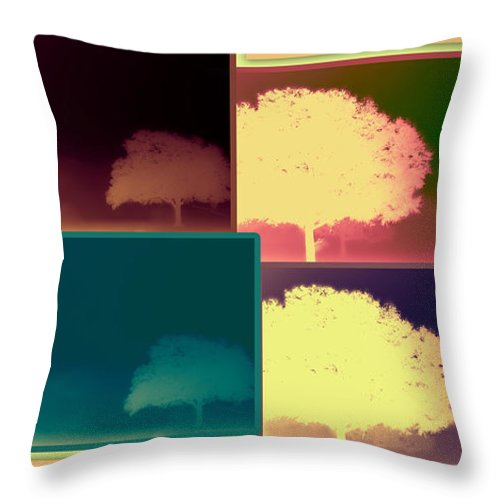 Abstract Throw Pillow featuring the photograph Layers Of Fog by DigiArt Diaries by Vicky B Fuller