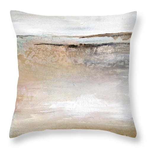 Abstract Landscape Throw Pillow featuring the painting Lazy Afternoon by Karen Hale