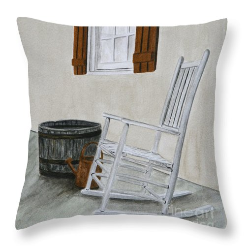 Americana Throw Pillow featuring the painting Lazy Day by Regan J Smith