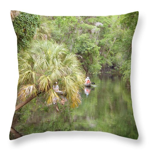 River Throw Pillow featuring the photograph Lazy Days On The Hillsborough by Judy Hall-Folde