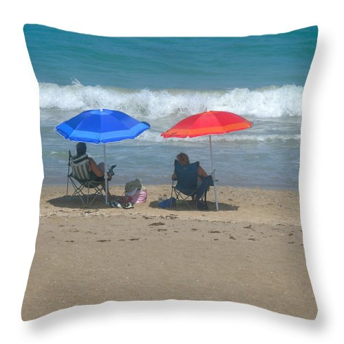 Brellies Throw Pillow featuring the photograph Lazy Sunday Afternoon by Marilyn Holkham