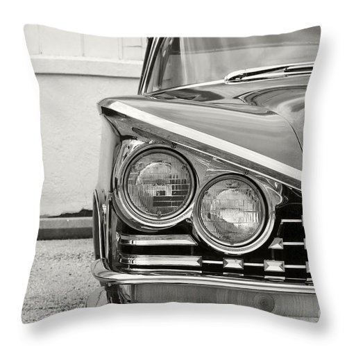 1959 Buick Lesabre Throw Pillow featuring the photograph Le Sabre by Dennis Hedberg