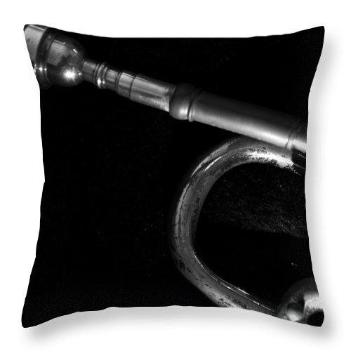 Trumpet Throw Pillow featuring the photograph Lead by Photographic Arts And Design Studio