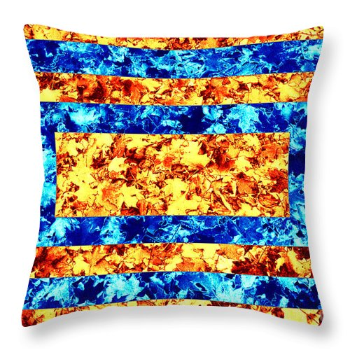 Leaves Throw Pillow featuring the photograph Leaf - Opposites by Paul W Faust - Impressions of Light