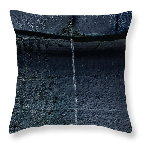 Wall Throw Pillow featuring the photograph Leak by Margie Hurwich