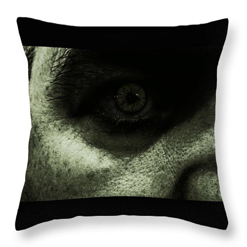 Zombie Throw Pillow featuring the photograph Leave Me Alone by Mick Logan