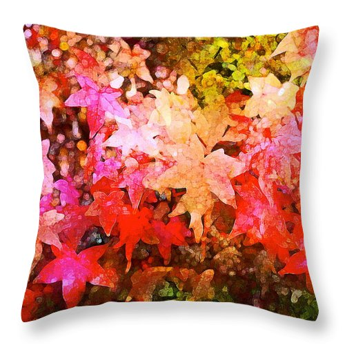 Tree Throw Pillow featuring the photograph Leaves 11 by Pamela Cooper