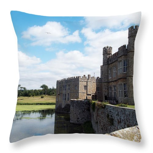 Leeds Castle Throw Pillow featuring the photograph Leeds Castle by Lisa Knechtel