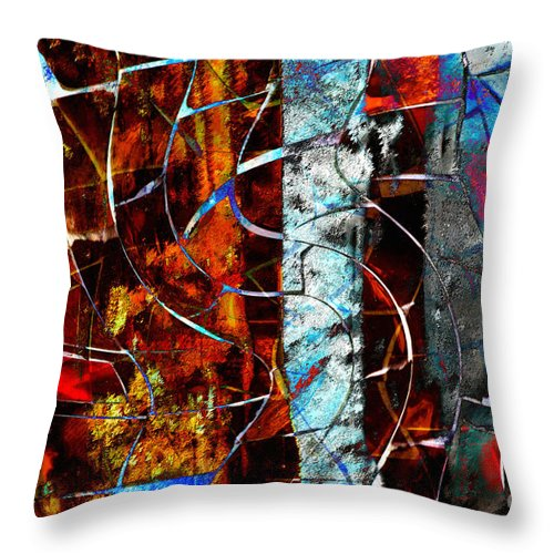 Abstract Throw Pillow featuring the digital art Legacy by Nola Lee Kelsey
