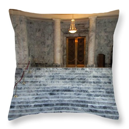 Olympia Throw Pillow featuring the photograph Legal Steps by Tikvah's Hope