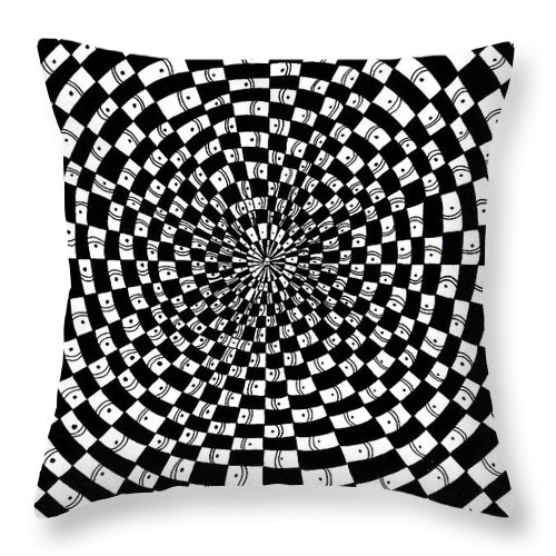 Abstract Throw Pillow featuring the drawing Legend Of An Abstract Artist by Crystal Hubbard