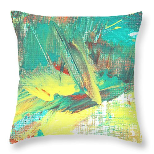 Abstract Throw Pillow featuring the painting Legions by Maura Satchell