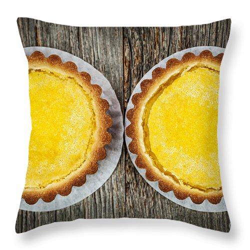 Tarts Throw Pillow featuring the photograph Lemon Tarts by Elena Elisseeva