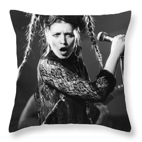 Lene Throw Pillow featuring the photograph Lene Lovich by David Fowler