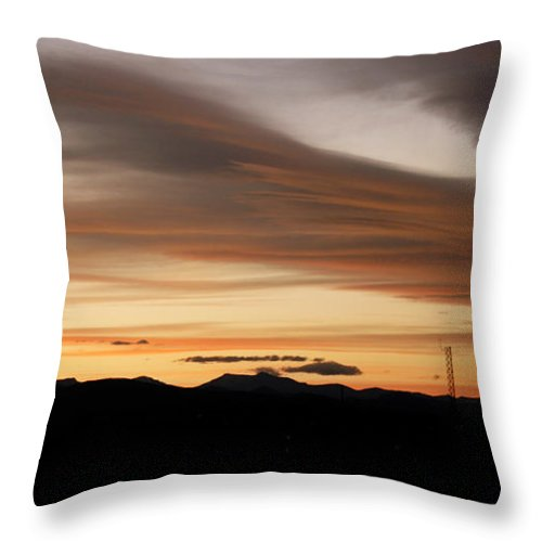 Lenticular Throw Pillow featuring the photograph Lenticular Sunset by Marilyn Hunt