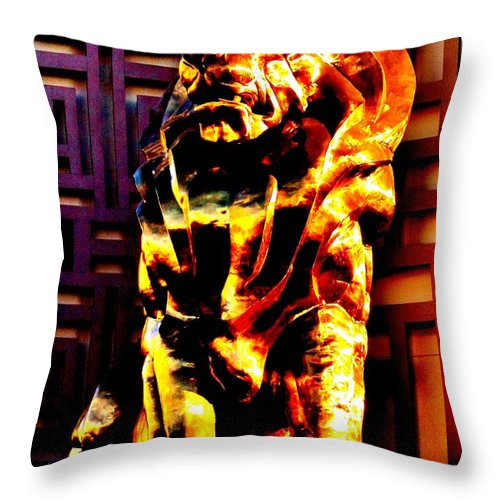 Las Vegas Throw Pillow featuring the photograph Leo The Lion by Benjamin Yeager