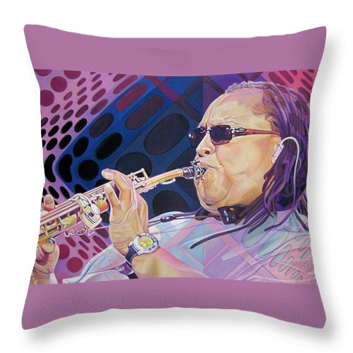 Leroi Moore Throw Pillow featuring the drawing Leroi Moore-op Art Series by Joshua Morton