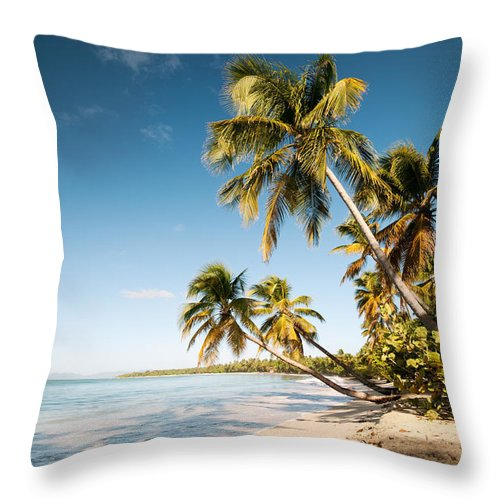 Tropical Throw Pillow featuring the photograph Les Salines Beach II by Matteo Colombo