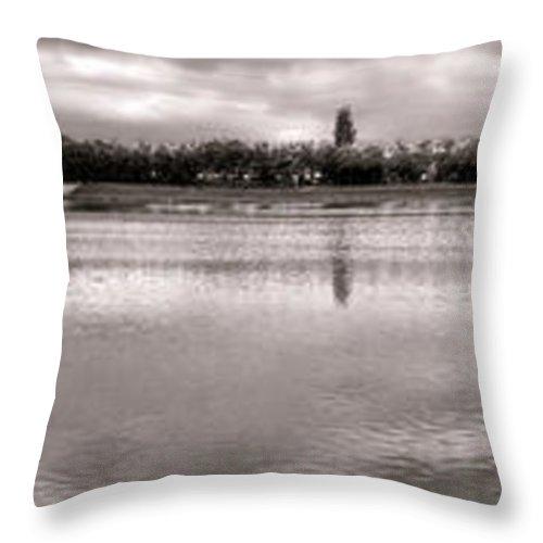 France Throw Pillow featuring the photograph Les Templettes Et Le Bassin De La Sourderie by Olivier Le Queinec