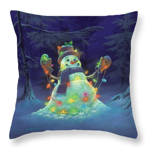 Michael Humphries Throw Pillow featuring the painting Let it Glow by Michael Humphries