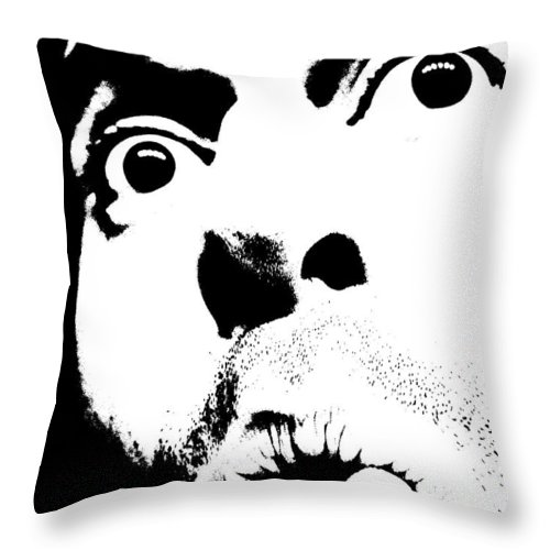 Black Throw Pillow featuring the photograph Selfie Circa 2005 by M Pace