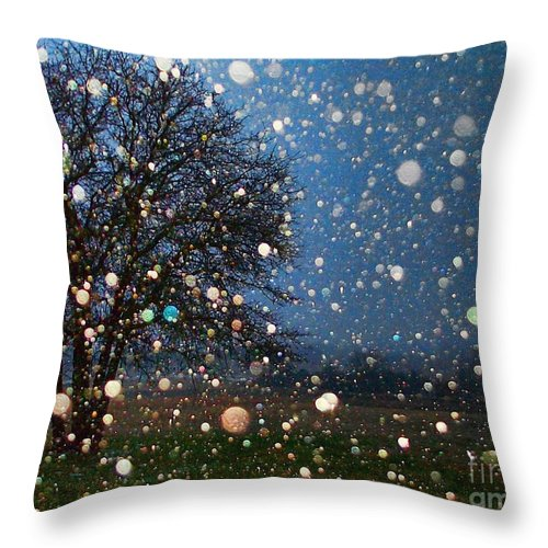 Snow Throw Pillow featuring the photograph Let It Snow by Shannon Story