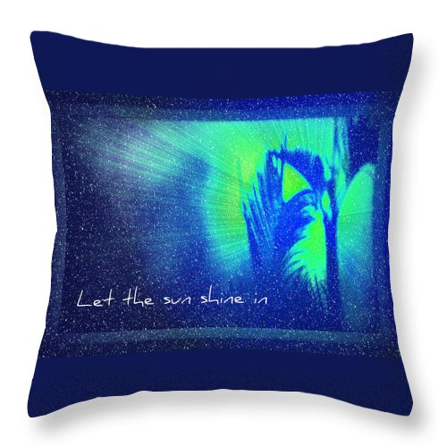 Abstract Throw Pillow featuring the photograph Let The Sun Shine In by Carolyn Marshall