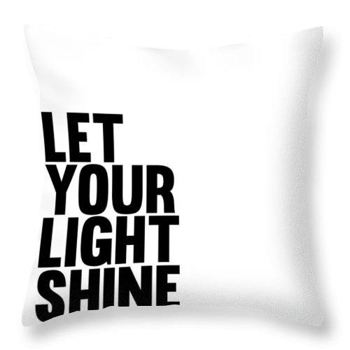 Let Your Light Shine Throw Pillow featuring the digital art Let Your Light Shine Poster 1 by Naxart Studio