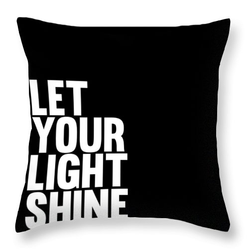 Let Your Light Shine Throw Pillow featuring the digital art Let Your Light Shine Poster 2 by Naxart Studio