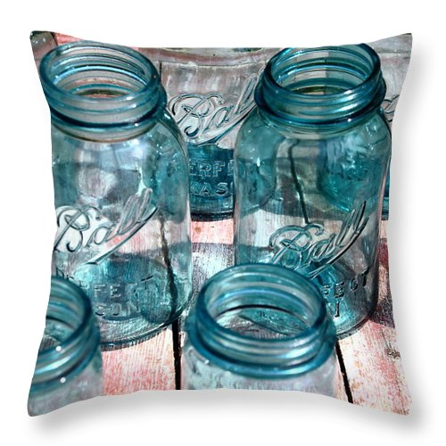 Glass Throw Pillow featuring the photograph Let's Have A Ball by David Rosenthal