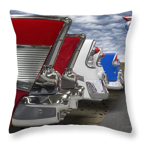 Transportation Throw Pillow featuring the photograph Lets Hear It For The Red White And Blue by Mike McGlothlen