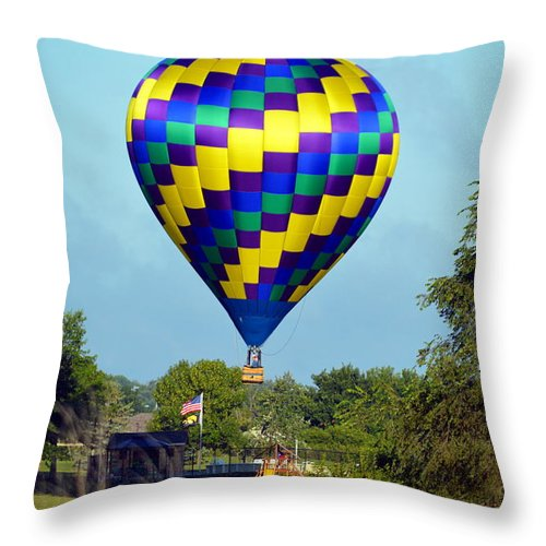 Throw Pillow featuring the photograph Let's Play by Kim Blaylock