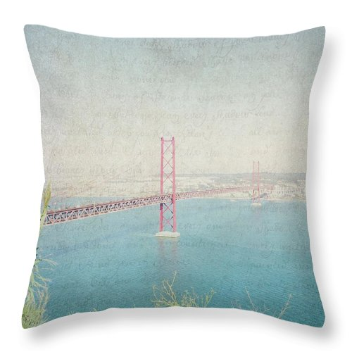 Lisbon Throw Pillow featuring the photograph Letters From Lisbon by Lisa Parrish