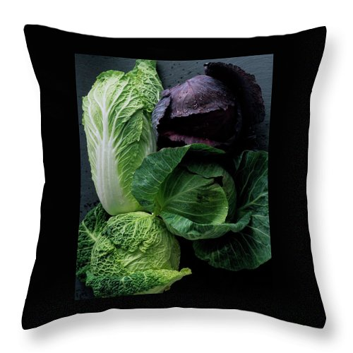 Fruits Throw Pillow featuring the photograph Lettuce by Romulo Yanes