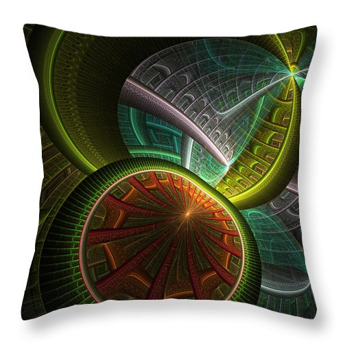 Digital Throw Pillow featuring the digital art Levels 113 by Deborah Benoit