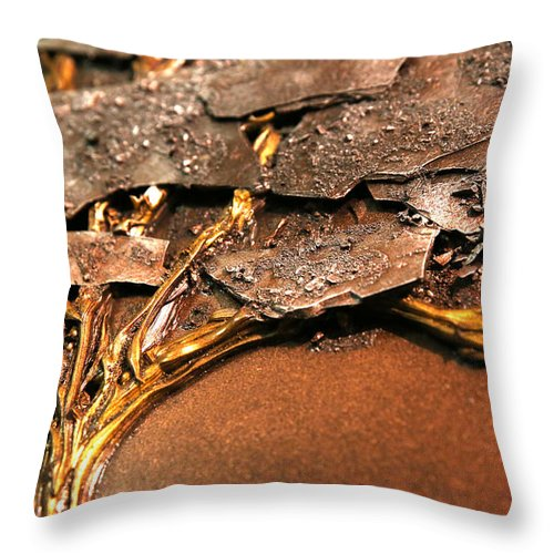 Winter Throw Pillow featuring the painting Lhiver Detail by Mathieu Francoeur