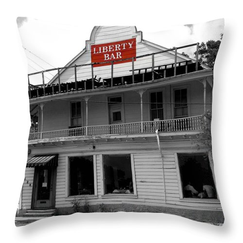 Liberty Bar Throw Pillow featuring the photograph Liberty Bar by Gia Marie Houck