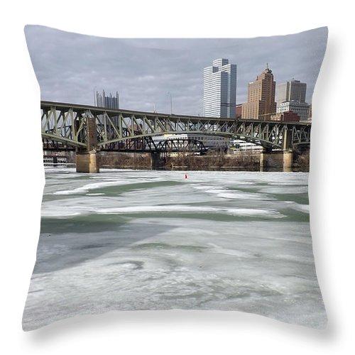 Monongahela Throw Pillow featuring the photograph Liberty Bridge # 1 by Joyce Wasser