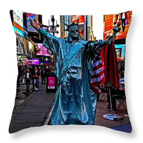 Liberty Throw Pillow featuring the photograph Liberty by Mike Martin