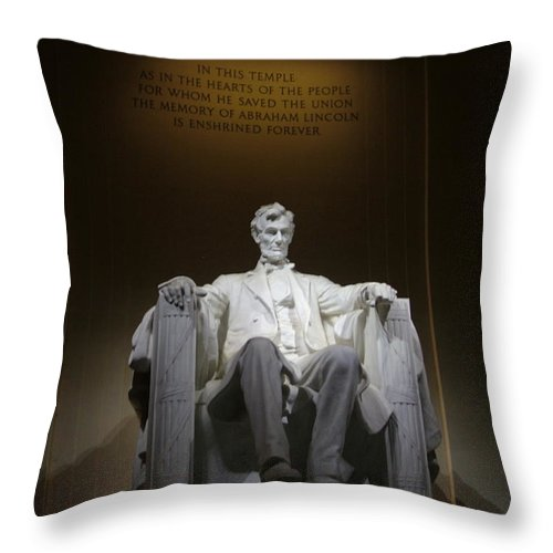 Abraham Throw Pillow featuring the photograph Lincoln Memorial by Geoffrey McLean