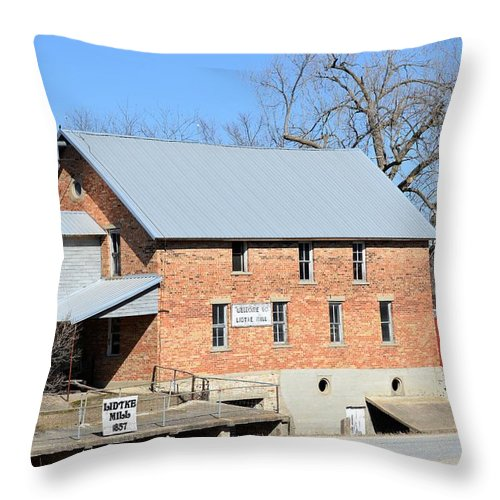 Lidtke Mill Throw Pillow featuring the photograph Lidtke Mill by Bonfire Photography