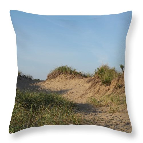 Landscape Throw Pillow featuring the photograph Lieutenant Island Dunes by Barbara McDevitt