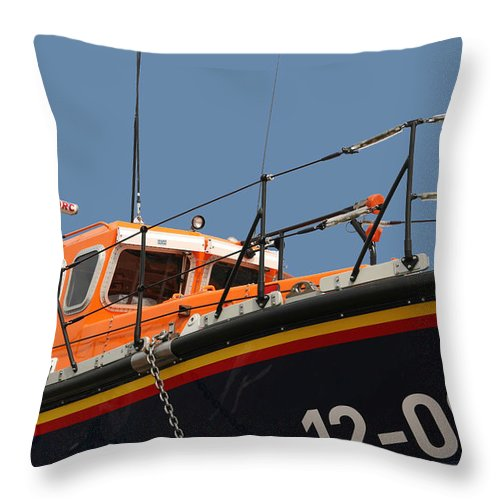 Life Throw Pillow featuring the photograph Life Boat by Christopher Rowlands