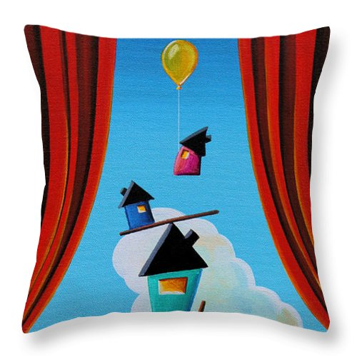 House Throw Pillow featuring the painting Life In Balance by Cindy Thornton