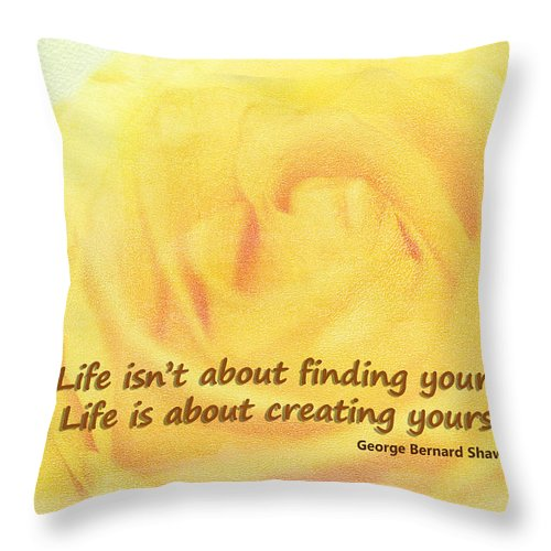 Motto Throw Pillow featuring the photograph Life Is About by Terry Fleckney