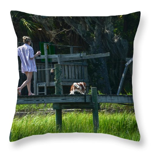 Man Throw Pillow featuring the photograph Life Is Good by Dale Powell